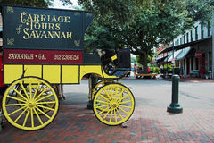 Carriage tours in Savannah Stock Photo