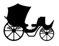 Carriage for transportation of people black outline silhouette v Stock Photo