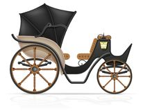 Carriage for transportation of people vector illustration Royalty Free Stock Images