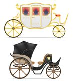 Carriage for transportation of people vector illustration Royalty Free Stock Photos