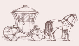 Carriage. Vector drawing Royalty Free Stock Images