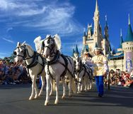 Carriage at Walt Disney World parade party Royalty Free Stock Photography
