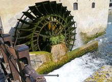 The carriage wheel of a water mill Stock Image