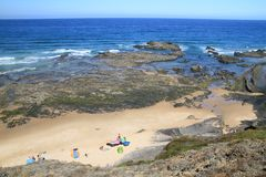 Carriagem beach overview Royalty Free Stock Image