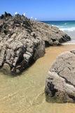 Carriagem beach rocks Stock Images