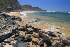 Carriagem beach seascape. Rogil, Aljezur, Portugal stock photography