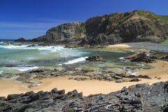 Carriagem seascape. Carriagem beach seascape, Rogil, Aljezur, Portugal stock photography