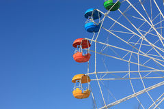 Carriages of Ferris wheel horizontal Royalty Free Stock Photo