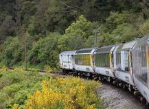 Carriages from observation car Trans Alpine Express Stock Image