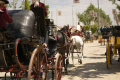 Carriages in Seville Stock Image
