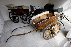 Carriages. In stables stately home england uk Royalty Free Stock Photo