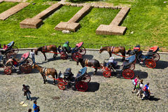 Carriages for tourists Stock Image