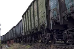 the carriages of the train for loading royalty free stock photography
