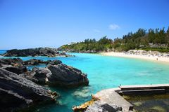 Carribbean Beach. Scenic over view of a Carribbean beach in Bermuda Royalty Free Stock Photography