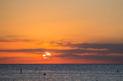 carribean ηλιοβασίλεμα Στοκ Φωτογραφίες