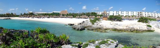 Carribean bay and shore area resort Stock Image
