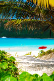 Carribean Beach. A peak into paradise on Flamenco Beach in the Carribean Stock Photos