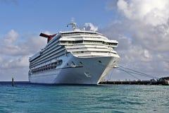 Caribbean cruise ship. Cruise ship docked by Caribbean island Grand Turk Royalty Free Stock Images
