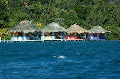 Carribean huts Royalty Free Stock Photos