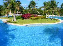 Carribean resort pool Royalty Free Stock Photography