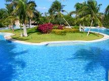 Carribean resort pool Royalty Free Stock Photography