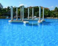 Carribean resort pool Stock Photos