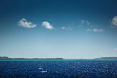 Carribean sea and beautiful tropical nature. View toward Saona i Royalty Free Stock Image