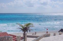 Carribean sea. City Cancun, Mexico Stock Photos