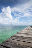 Carribean sea and landscape royalty free stock photos
