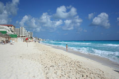 Carribean sea, Mexico. The beach by the Carribean sea in Cancun Mexico Stock Photography