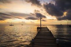 Carribean sunset stock image