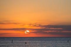 Carribean sunset Stock Photos