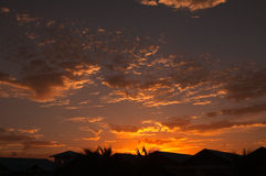 Carribean sunset Royalty Free Stock Photography