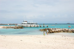 Carribean Vacation. Private island in the Bahamas. A stop for cruise ships. A vacation destination Royalty Free Stock Photography