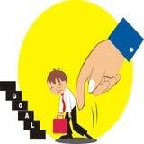 Carricature работников мотивированно их боссом Стоковое Фото