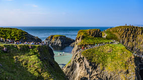 Free Carrick-a-Rede Rope Bridge Royalty Free Stock Image - 77099016
