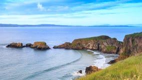 Carrick-A-Rede绳索在北爱尔兰 库存图片