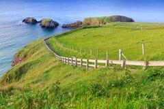 Carrick-A-Rede绳索在北爱尔兰 免版税库存照片