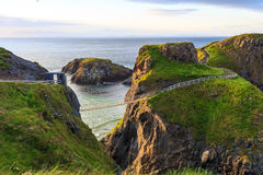 Carrick-A-Rede绳索在北爱尔兰 免版税库存图片