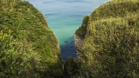 Carrick a Rede. Rope Bridge Northern Ireland , Great Britain royalty free stock photo