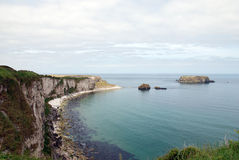Carrick-a-rede Coast. The Northern Ireland coastline at Carrick-a-rede in county Antrim royalty free stock photography