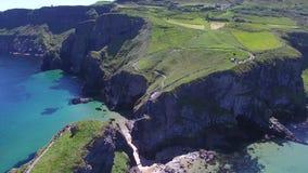 Carrick-a-Rede de Provincie Antrim Noord-Ierland van de Kabelbrug Stock Foto's