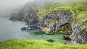 Carrick a rede. An image of the cliffs at carrick a rede ireland royalty free stock photos