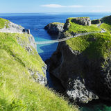 Carrick-a-rede Rope Bridge Royalty Free Stock Images