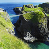 Carrick-a-rede Rope Bridge. In County Antrim, Northern Ireland royalty free stock photography