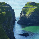 Carrick-a-rede Rope Bridge. In County Antrim, Northern Ireland stock photo