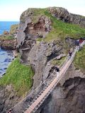 Carrick-a-rede Rope Bridge. In Co. Antrim, Northern Ireland Stock Images