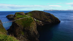 Carrick-a-Rede Rope Bridge stock video footage