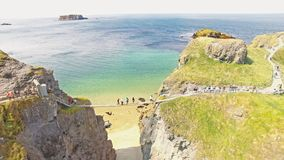 Carrick-a-Rede Rope Bridge Ballintoy Co. Antrim Northern Ireland. Carrick-a-Rede Rope Bridge at Ballintoy Co. Antrim Northern Ireland Game of Thrones Filming royalty free stock photography