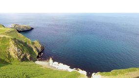 Carrick-a-Rede Rope Bridge Ballintoy Antrim Northern Ireland royalty free stock photography